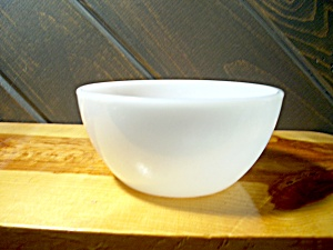 Federal Glass Heavy White Cereal Bowl
