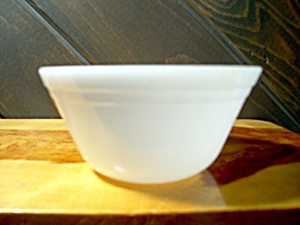 Federal Glass Small Heavy White Mixing Bowl