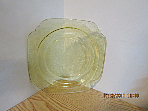 Vintage Depression Glass Amber Madrid Luncheon Plate