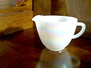 Vintage Federal Glass Moonglow Creamer