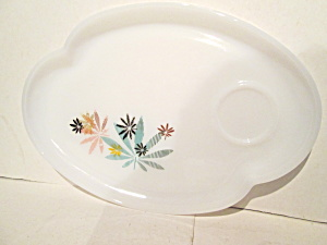 Vintage Aromic Flower Patio Snack Replacement Plate
