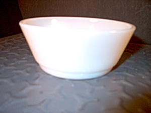 Fire King White Stacking Cereal Bowl