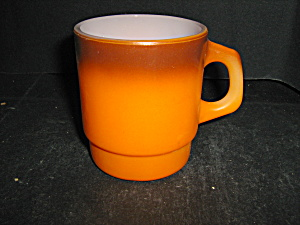 Fire King Orange/brown Coffee Mug