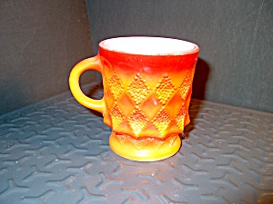 Orange Fire King Kimberly Coffee Mug