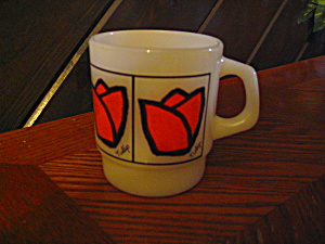 Fire King Tulip Coffee Mug