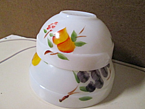 Vintage Fire King Gay Fad Fruit Mixing Bowls