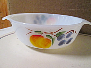 Vintage Fire King Casserole Dish Gay Fad Fruit