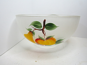 Vintage Frosted Glass Gay Fad Fruit Salad/punch Bowl