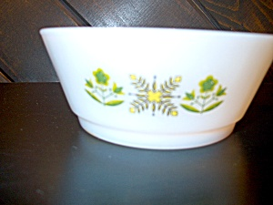 Fire King Medow Green Stacking/cereal Bowls