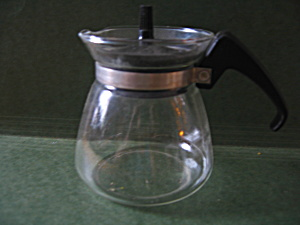 Vintage Pyrex # 802, Glass Mini Coffee Pot.