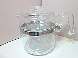 Vintage Pyrex Glass Percolator Coffee Pot