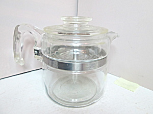 Vintage Pyrex Glass 4 Cup Percolator Coffee Pot