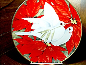Christmas Doves Christmas Seal Plate