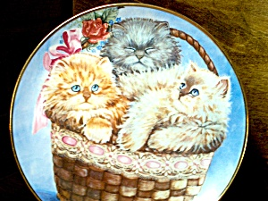 Limited Edition Three Little Kittens Plate