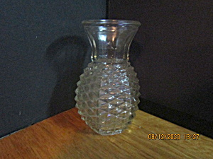 Vintage Ftd Diamond Point Pinapple Shape Vase
