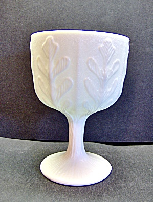 F.t.d. Milk Glass Pedestal Planter Small