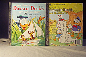 Little Golden Book Disney Set Of 2 Donald Duck Books