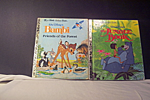 Little Golden Book Disney Jungle Book & Bambi
