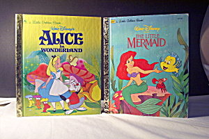 Golden Book Alice In Wonderland & The Little Mermaid