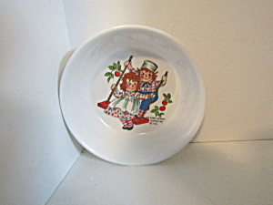 Vintage Child Melamine Raggedy Anna & Andy 5 In. Bowl