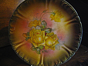 Antique Royal Bonn German Rose Cabinet Plate