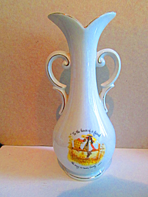 Vintage Porcelain Holly Hobby Vase Home Of A Friend