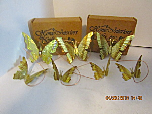 Home Interiors Pose-able Small & Medium Butterfly Sets