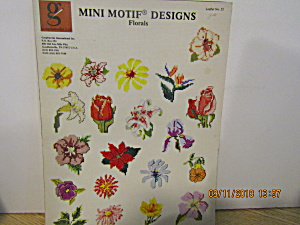 Graphworks Book Mini Motif Designs Florals #55