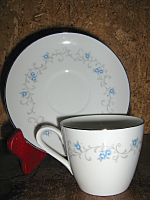 Granada Rose China Cup And Saucer Set