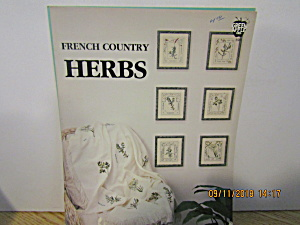 Green Apple Cross Stitch French Country Herbs #596