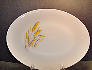 Vintage Fire King Wheat Oval Platter
