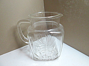 Vintage Federal Glass Star-clear Water/juice Pitcher