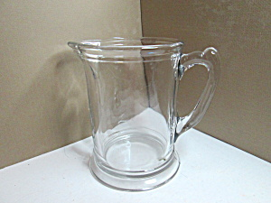 Vintage Clear Glass Beer/ Water/juice Pitcher