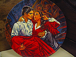 Gone With The Wind Plate Scarlett And Rhett-the Finale