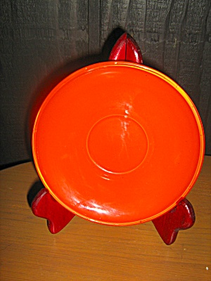 Anchor Hocking Rainbow Tangerine Saucer