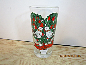 12 Days Of Christmas #2 Two Turtle Doves Glass