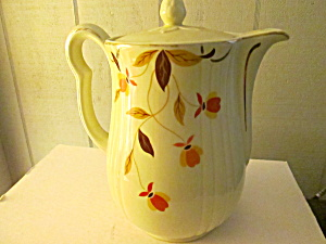 Vintage Hall Jewel Tea Autumn Leaf Small Coffee Pot