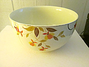 Vintage Hall Autumn Leaf Stacking Large Mixing Bowl