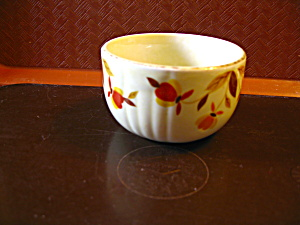Vintage Hall Jewel Tea Autumn Leaf Custard Cup
