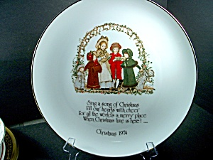 Holly Hobby Collector Plate Christmas 1974