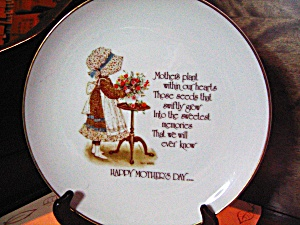 Holly Hobbie Plate Happy Mothers Day 1975