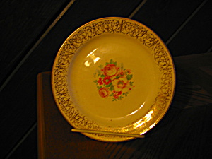 Vintage Homer Laughtin Nautilus Pink Flower Bread Plate