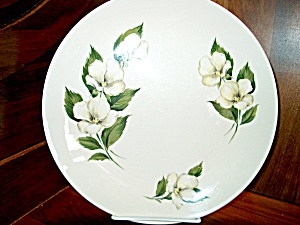 Homer Laughlin White Flower Luncheon Plate