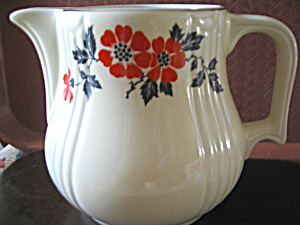Vintage Hall Red Poppy 2 Quart Pitcher