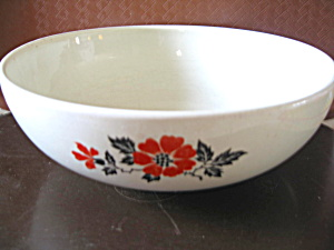 Vintage Hall Red Poppy Salad Serving Bowl