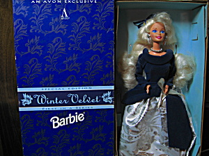 Avon Exclusive Winter Velvet Barbie