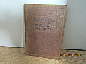 Vintage Hymn Book Treasury Of Gospel Hymns & Poems