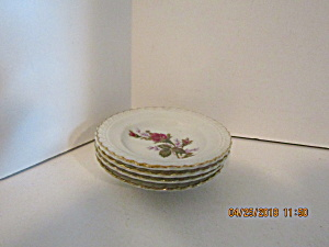 Vintage Moss Rose Pattern Mini Plates