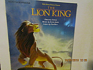Music Book The Lion King For Alto-sax