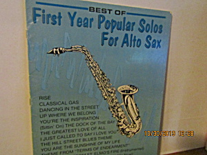 Music Book First Year Popular Solos For Alto Saxophone